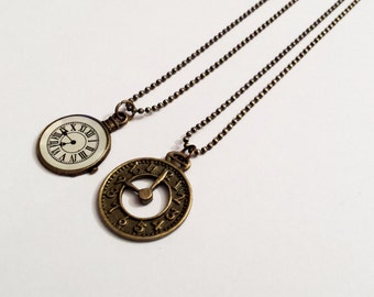 Sale! Watch Clock face necklace