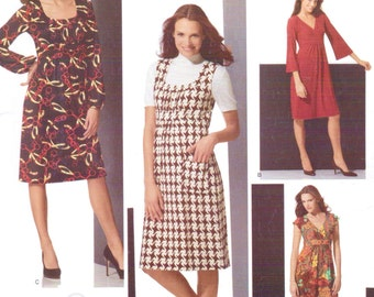 Womens Knit Dress with Sleeve and Bodice Variation Simplicity Sewing Pattern 3678 Size 16 18 20 22 24 Bust 38 40 42 44 46 Stretch Knits Only