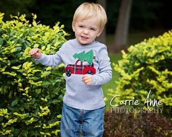 Kids Christmas Shirt, Boys Christmas Shirt, Christmas Tree Shirt, Christmas Car Shirt, Sibling Shirts, Christmas Outfit, First Christmas