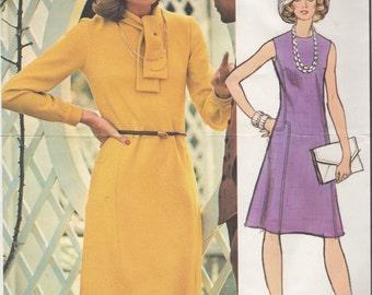 Bust 38-1970's Misses' Dress Vogue Paris Original by Pierre Balmain Sz 16