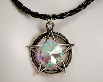 White witch jewelry, Witchcraft, wiccan jewelry, pagan jewelry, Pentacle, protection talisman, pentagram necklace, mystic occult jewelry