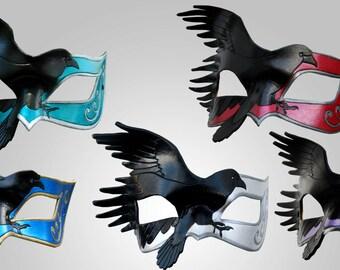 Custom Leather Raven Mask