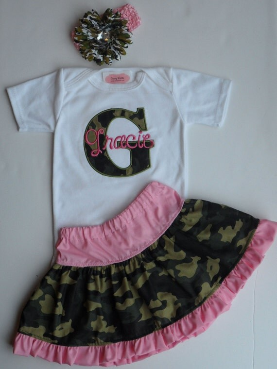 Pink Camo Baby Clothes