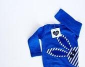 Bunny Rabbit Bodysuit, Blue Bunny Rabbit Shirt, Easter baby boy