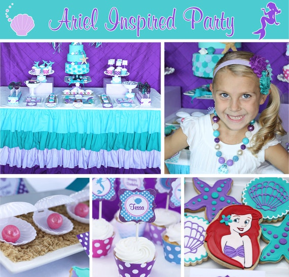 Ariel little mermaid inspired birthday party decorations for Ariel birthday party decoration ideas