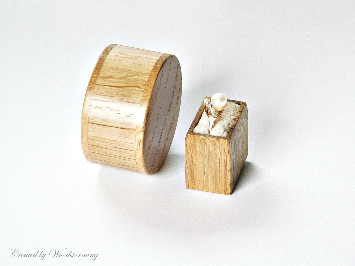 unique engagement ring box proposal ring box made of oak