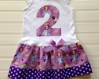 Custom Boutique Princess Birthday Dress Number Dress Princess Dress Girls Dresses Purple Dress Kids Available in 0-3 months through Size 6/8