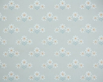 Retro Wallpaper by the Yard 70s Vintage Wallpaper - 1970s White Daisies on Gray