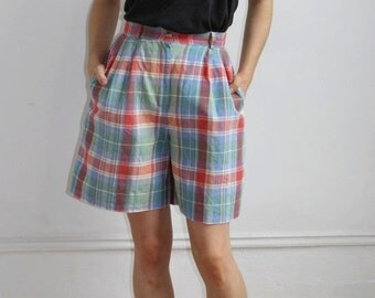 Madras Shorts - S