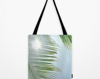 Summer Beach Bag Palm Tree Tote
