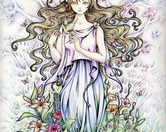 "Goddess Fantasy Art Print ""Persephone Rising"" Fantasy Art"