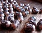 Moroccan tarnished   ornate barrel bead (R)