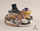 Snake Love Custom Wedding Cake Topper