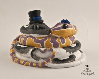 Snake Love Custom Wedding Cake Topper