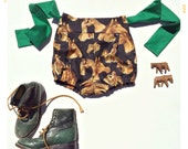 The Giddy Up High Waist Girls Bow Shorts Vintage Inspired Western Print Cotton by Fleur + Dot