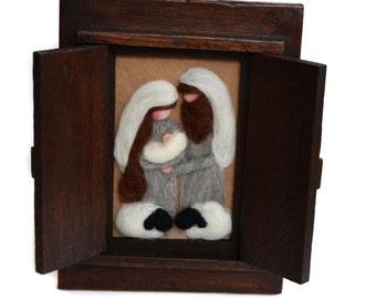 Christmas Nativity - Christmas Decor - Nativity - Felted Nativity