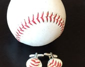 Played game ball MLB baseball Boston Red Sox accessory sports fanatic hand crafted cuff links