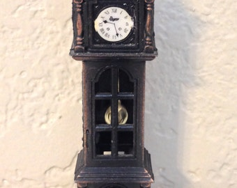 Vintage Grandfather Clock Pencil Sharpener 3.75 Inches Tall 1 Inch Wide Previously Fifteen Dollars ON SALE