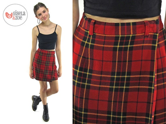 90s Plaid Gap Mini Skirt / Vintage Tartan Plaid Skirt / 90s