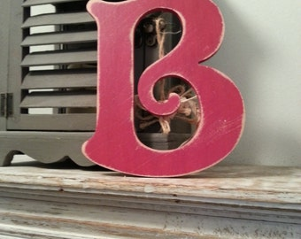 Decorative Wooden Wall Letter 'B' - Any Colour - Victorian Style - 8""
