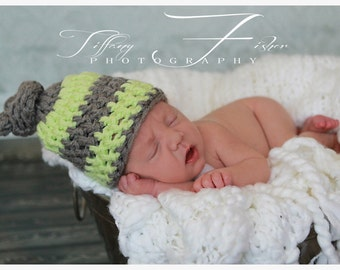 Newborn Baby Photography Knot Hat (over 70 colors available, sizes nb, 1-3mos, 3-6mos, 6-12mos)