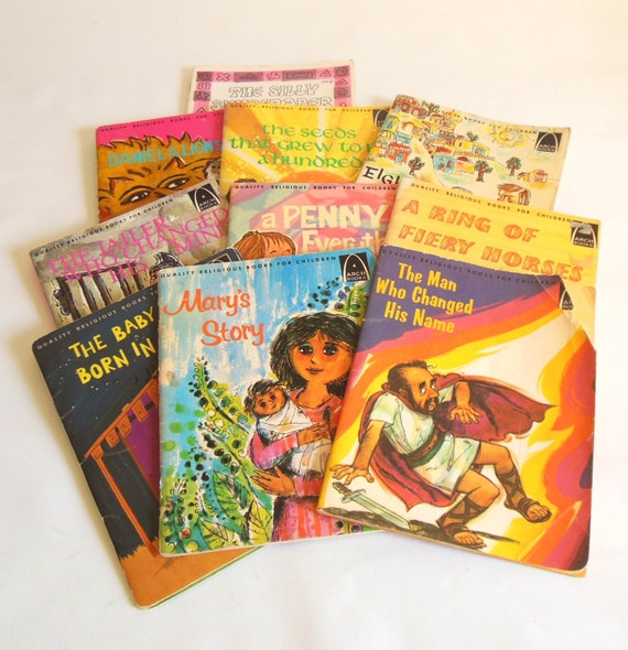 Arch Books Bible Stories For Children Lot Of 10 Vintage Retro