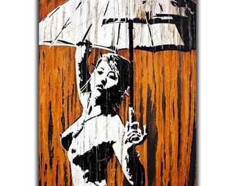 Drop Erotic - Original Art By Sku Style - Signed Limited Canvas Art Print - Street Art - Graffiti