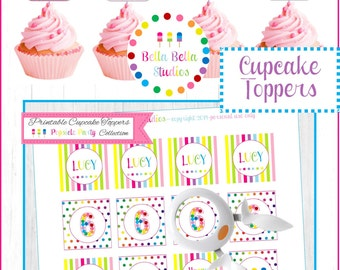 POPSICLE Cupcake TOPPERS ~ Personalized Printable Download