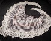 Handknit lace shawl