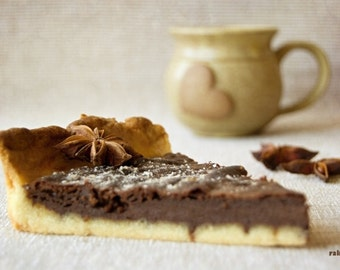 Coffee and Cake, Food photography, Chocolate cake, Cup of coffee, Kitchen art, Restaurant décor, Dining room décor, Paris kitchen decor