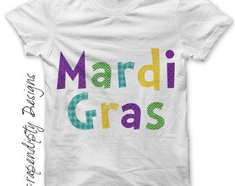 Iron on Mardi Gras Shirt PDF - Fat Tuesday Iron on Transfer / Toddler Mardi Gras Outfit / Baby Mardi Gras Clothes / Boys Holiday Shirt IT370