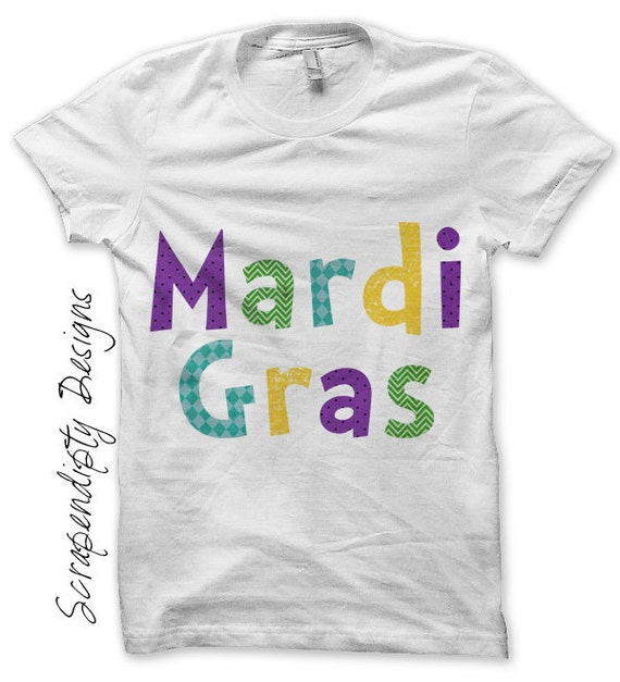Iron on Mardi Gras Shirt PDF - Fat Tuesday Iron on Transfer / Toddler Mardi Gras Outfit / Baby Mardi Gras Clothes / Boys Holiday Shirt IT370