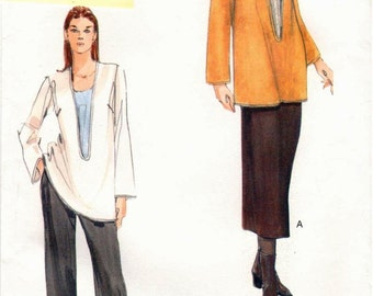Very Easy Vogue Pattern 7147 Misses Tunic, Skirt & Pants 6-10 UNCUT