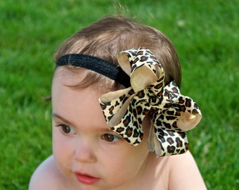 Cheetah Baby Headband - Bow Headband - Infant Headband Copy