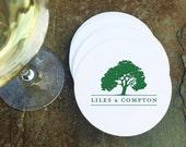 Custom Letterpressed Coasters -- Wedding Invitation, Favor, Logo, Gift, Business Collateral, Decoration
