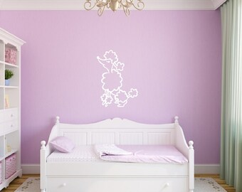 Vinyl Wall Decal French Poodle Style A Girls Room Nursery Decor 22390