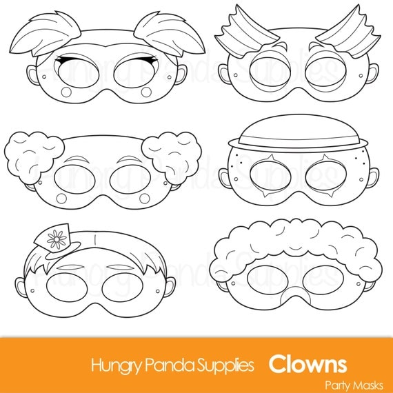 clown party circus coloring pages - photo#43