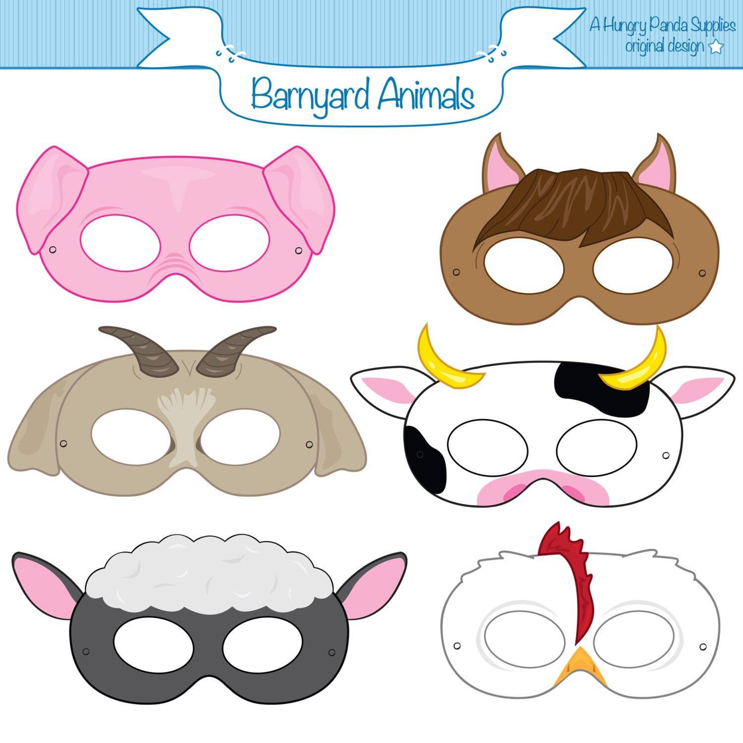 It's just an image of Nifty Printable Pig Masks