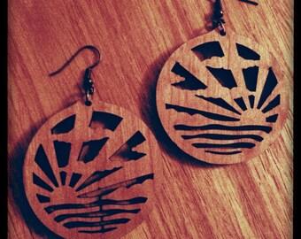 Art Deco Earrings - Sunburst - Made in England