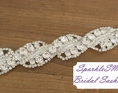 Bridal sash, Wedding sash, Bridal belt, Crystal Bridal Sash, Rhinestone Sash, Jeweled Belt, Bridal Belt, Wedding Gown Belt, Sash - Paige