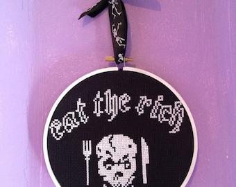 Eat The Rich Cross Stitch
