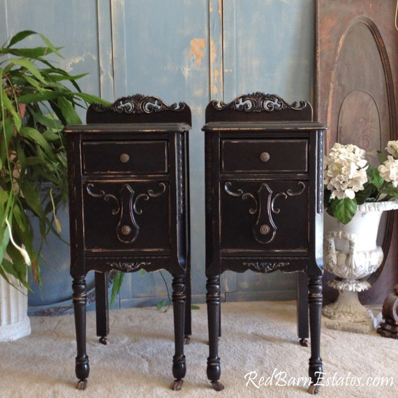 Gorgeous Painted Nightstands We Find Antique By Redbarnestates