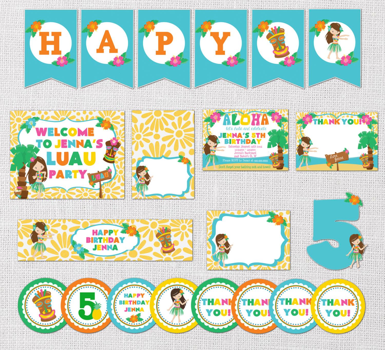 luau invitation luau birthday party package luau pool party
