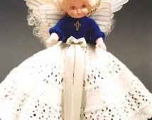 PDF Pattern. Knit Angel Doll Pattern - ANGEL Jodi Dawn #4 In Millennium JAO Series - Knit Bed Doll Pattern. Full Lace Skirt. Knitting Series