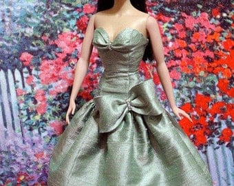 Drop waist gown PATTERN for standard size Barbie and Fashion Royalty  by Marirose in PDF