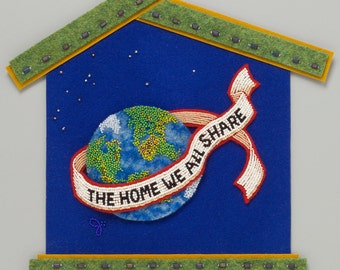 Water Earth  Air -from  the Meanings of HOME collection of bead art