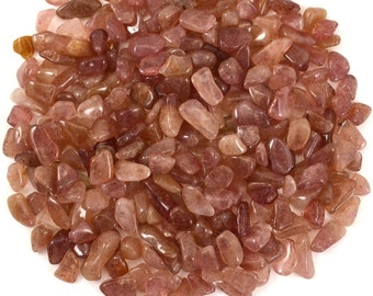250 RED AVENTURINE Mini Tumbled Stones 1/4 lb Package - Crystals, Jewelry & Crafts, Healing Crystals Red Aventurine Tumbled Stones