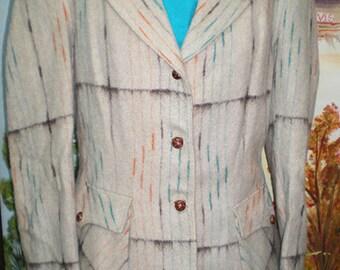 SALE Vintage 1950's  WESTERN Cowgirl Lasso Brand Jacket Wool