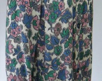 1940's Floral Print House Coat