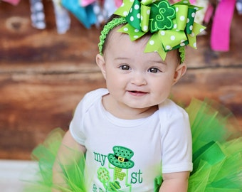 My First St. Patrick's Day Tutu Outfit-My First St. Patrick's Day Tutu Set-Baby's First St. Patrick's Day *Bow NOT Included*